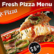 Fresh Pizza Menu - GraphicRiver Item for Sale