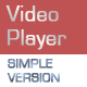 Simple Resizable Video Player - ActiveDen Item for Sale