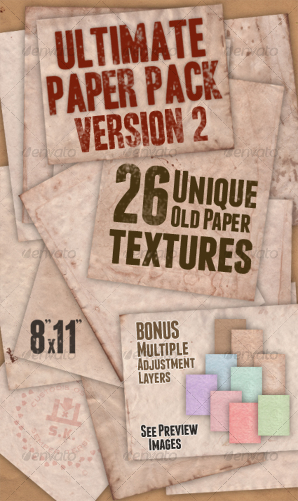 GraphicRiver Ultimate Paper Pack Version II 107247