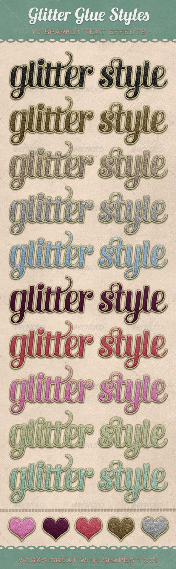 GraphicRiver Glitter Glue Styles 309217