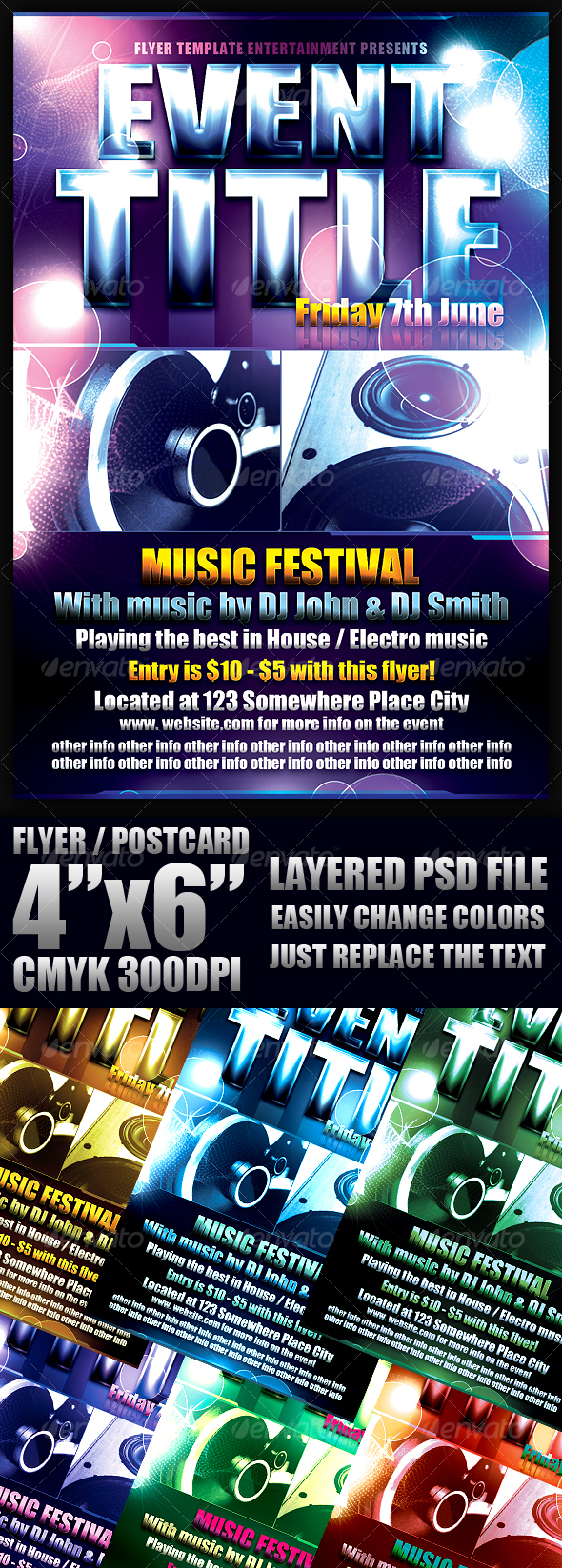 GraphicRiver Event Flyer Template 107276