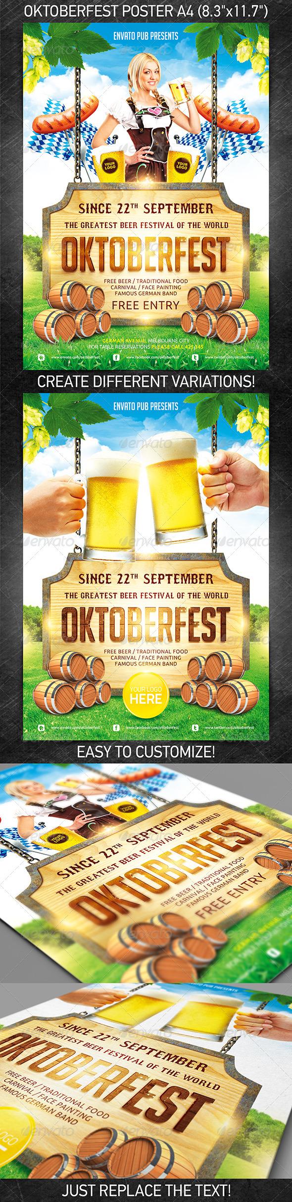 GraphicRiver Oktoberfest festival poster 3006430