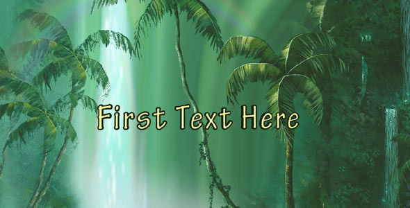 After Effects Project - VideoHive Tropical Forests Waterfalls 309222