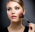 Makeup. Applying Make-up Cosmetics Brush. Perfect Make-up - PhotoDune Item for Sale