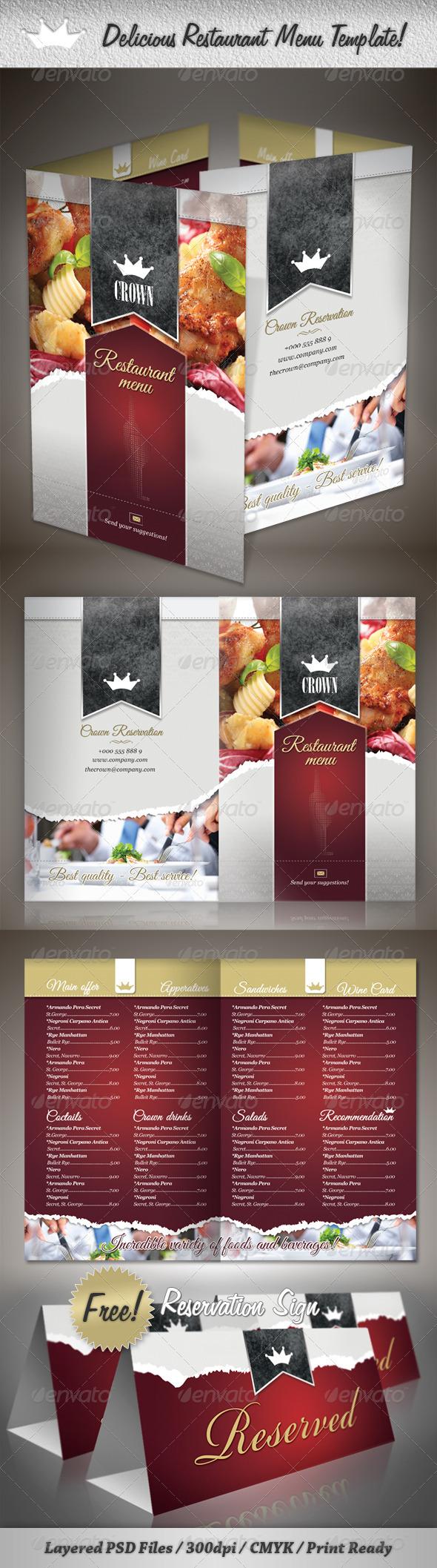GraphicRiver Delicious Restaurant Menu Template 2021633