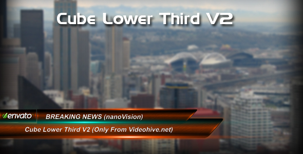 After Effects Project - VideoHive Cube lower third V2 107492