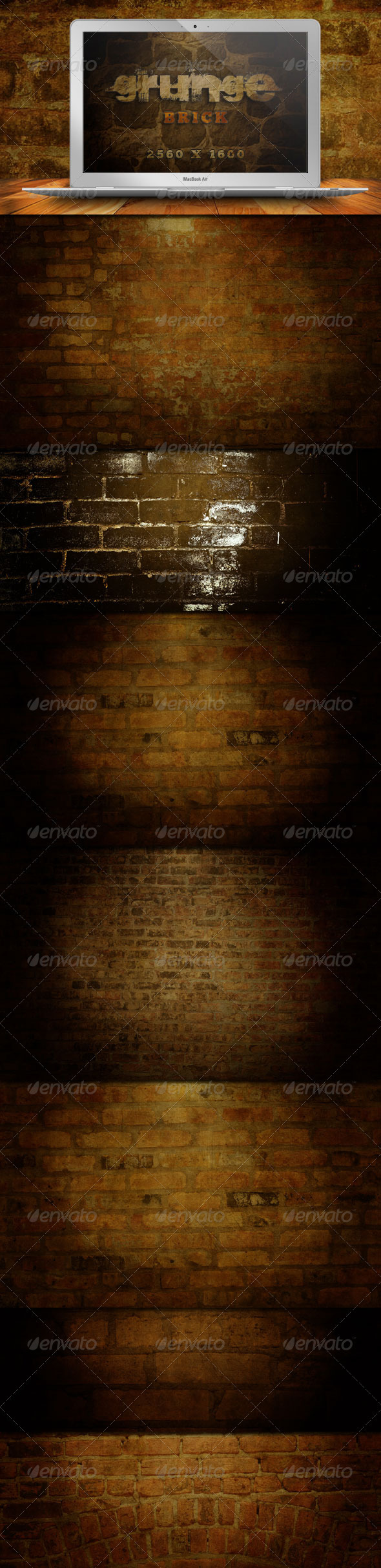 GraphicRiver 10 Grunge Brick Backgrounds 309997