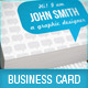 Blue Talk Bubble Creative Designer Business Card  - GraphicRiver Item for Sale