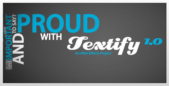 After Effects Project - VideoHive Textify 1.0 306585