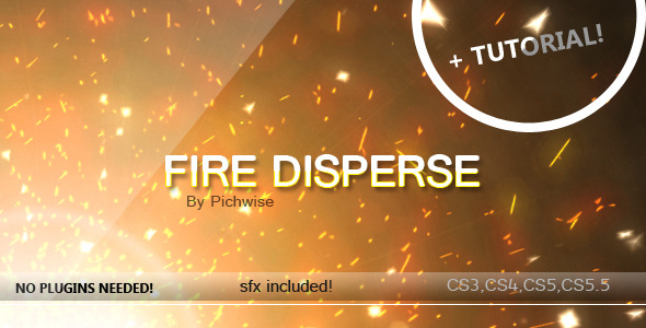 After Effects Project - VideoHive Fire Disperse 310240