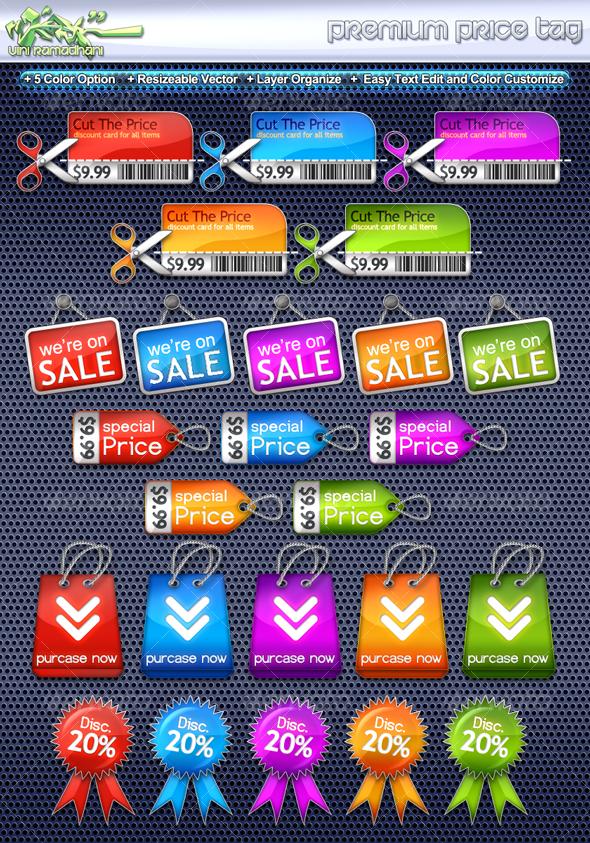 GraphicRiver Premium Price Tag 107581