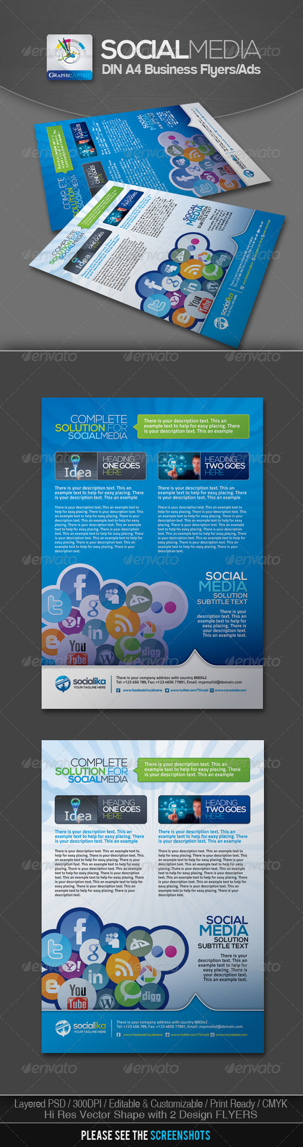 GraphicRiver Social Media Business Flyers v.2 3023822