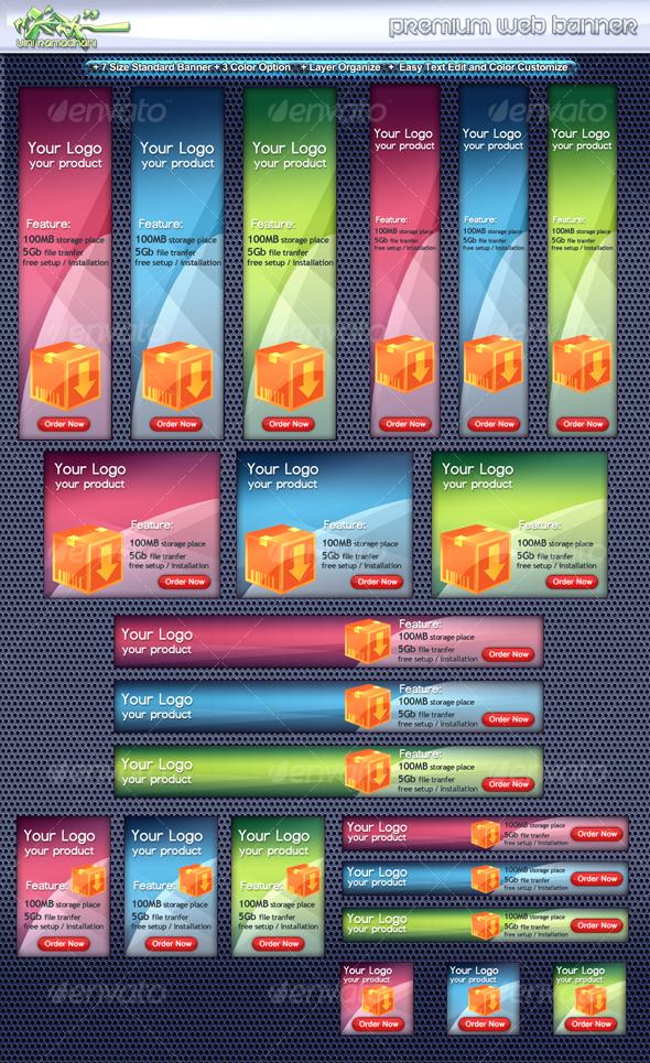 GraphicRiver Premium Web Banner 107588