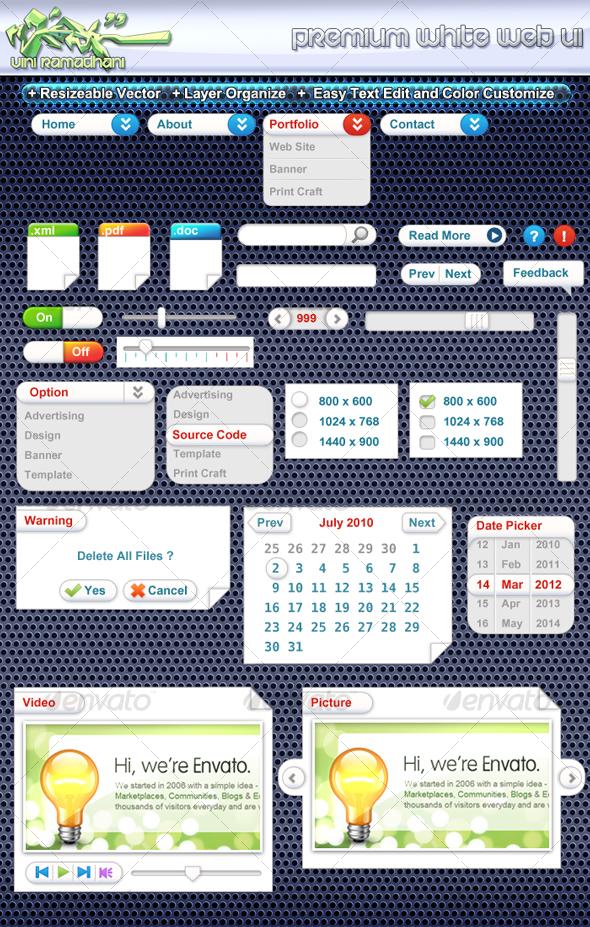 GraphicRiver Premium White Web UI 107592
