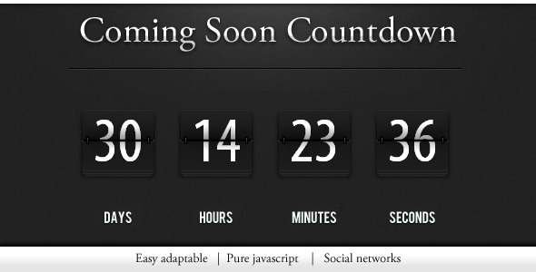 CodeCanyon - Countdown / construction page - Rip 310456 Src