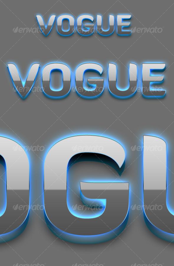 GraphicRiver Vogue 3D Text Styles 107627