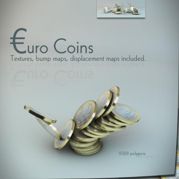 3DOcean euro coin s 107633
