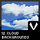 12 Cloud Backgrounds - GraphicRiver Item for Sale