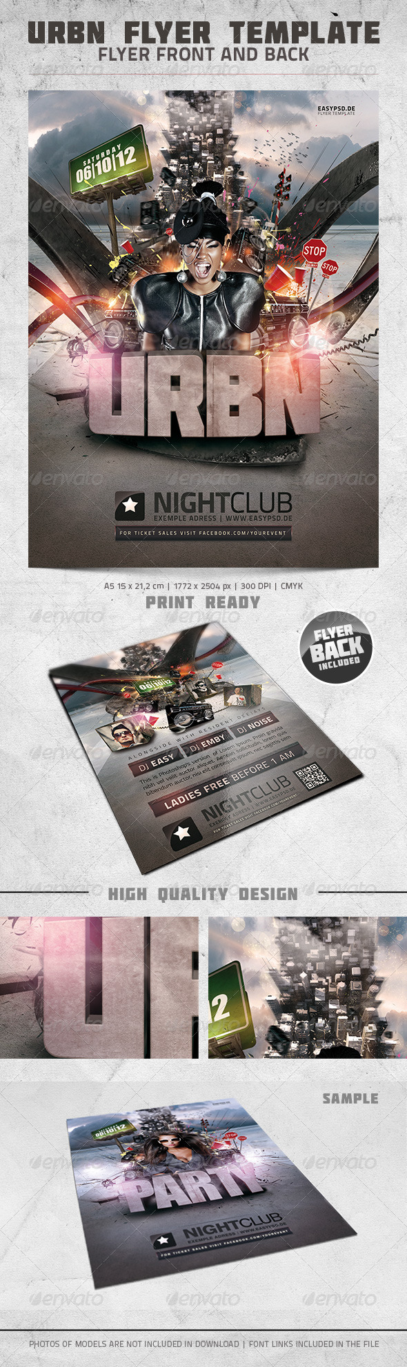 GraphicRiver URBN Flyer Template 3017827
