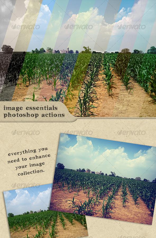 GraphicRiver Image Essentials Photoshop Actions 107745