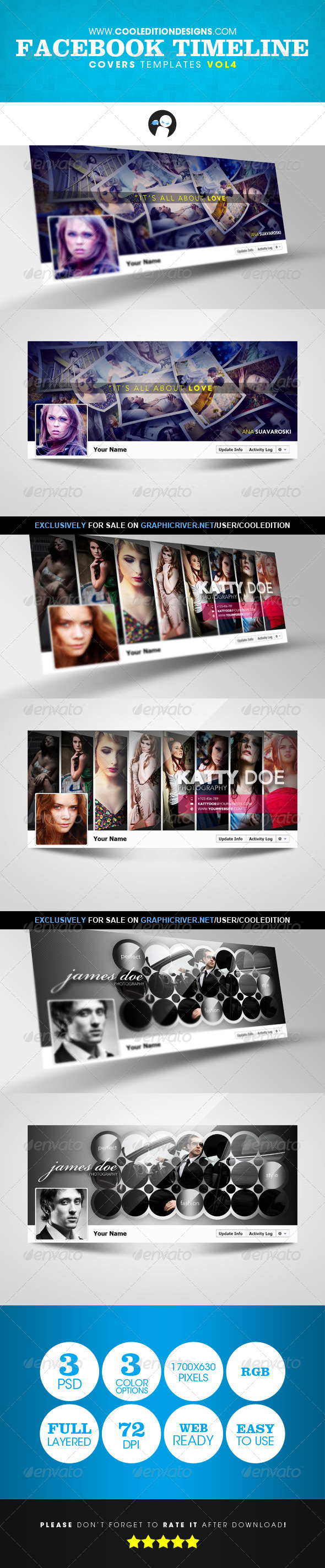 GraphicRiver Facebook Timeline Covers Templates VOL4 3029281