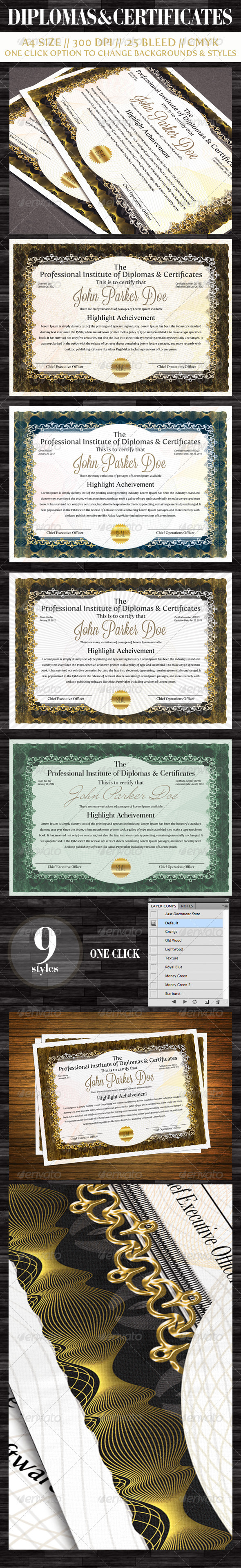 GraphicRiver Diplomas & Certificates 1573633