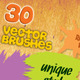 30 Special Vector Art Brushes - GraphicRiver Item for Sale