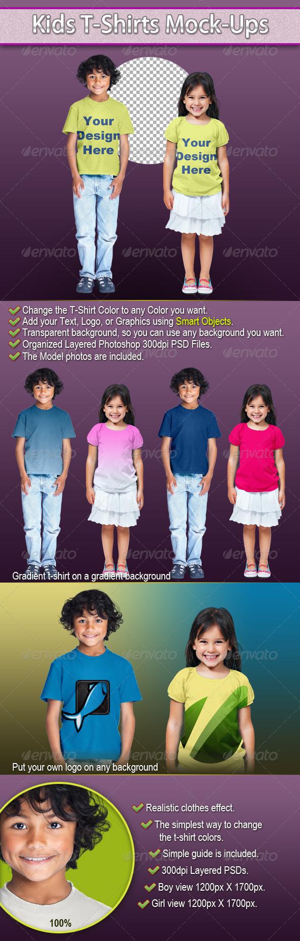 GraphicRiver Kids T-Shirts Mock-Ups 3031380