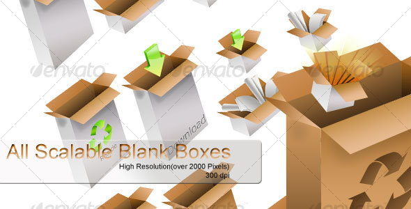 GraphicRiver Scalable Blank Boxes 107819