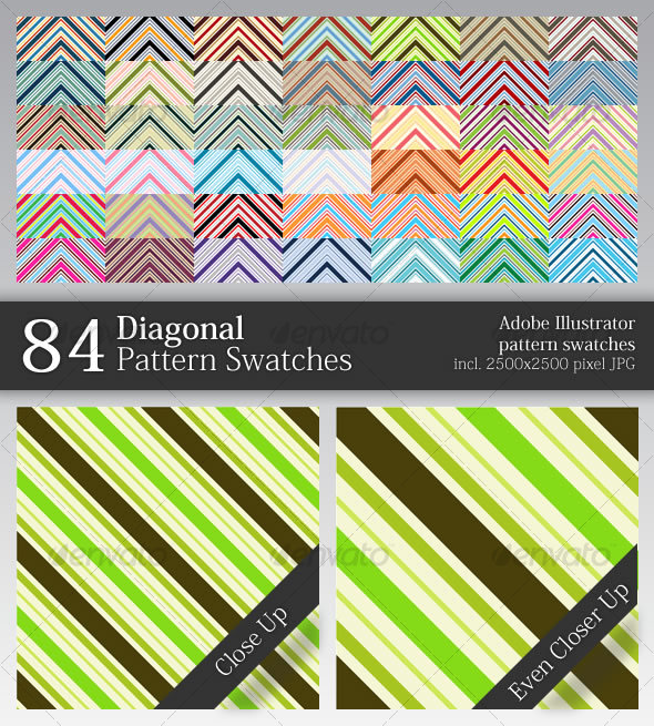 GraphicRiver 84 Diagonal Pattern Swatches 49093