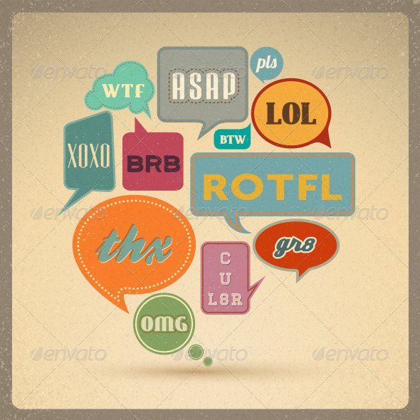 GraphicRiver Retro Speech bubbles 3037082