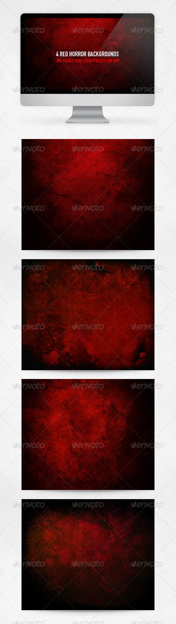 Graphic River Red Horror Backgrounds Graphics -  Backgrounds 935542