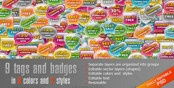 GraphicRiver Glass Tags and Badges 108092
