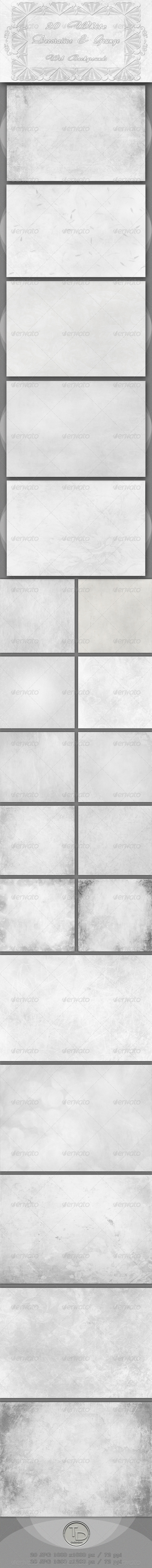GraphicRiver 20 White Decorative and Grunge Web Backgrounds 2688449
