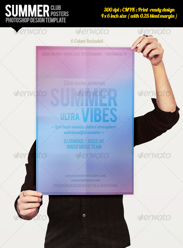 GraphicRiver Summer Club Posters 108138
