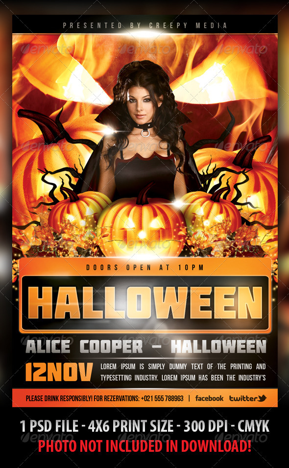 GraphicRiver Halloween Flyer 3043147