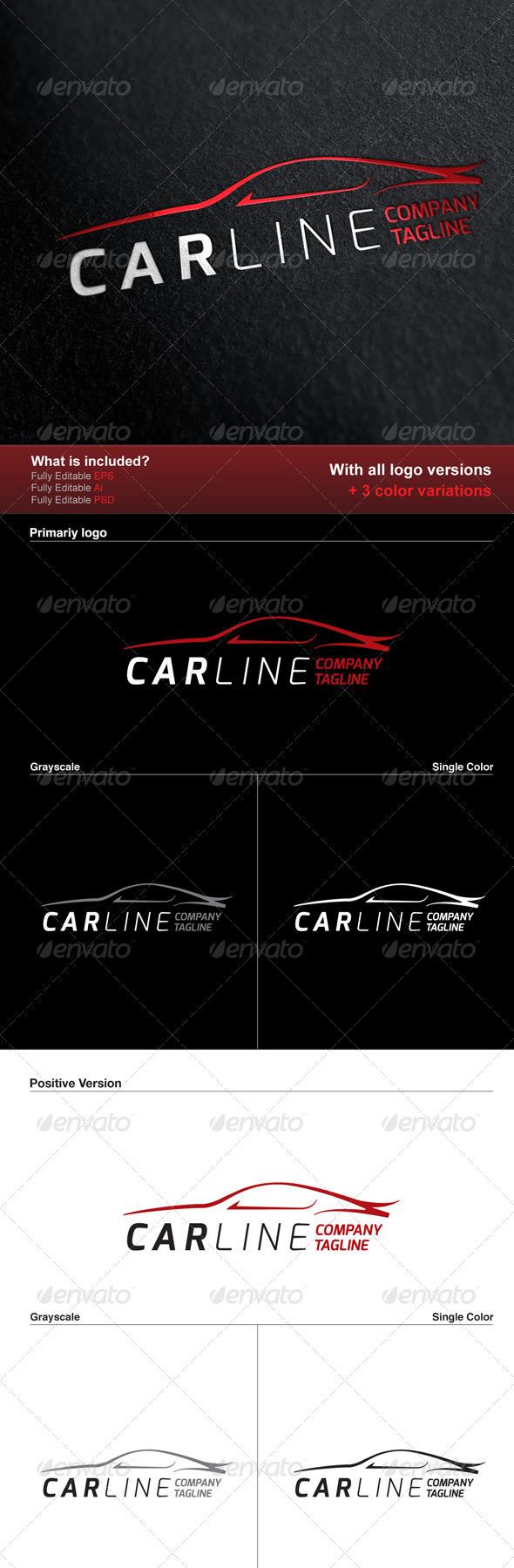 GraphicRiver Car Line Logo 2983416
