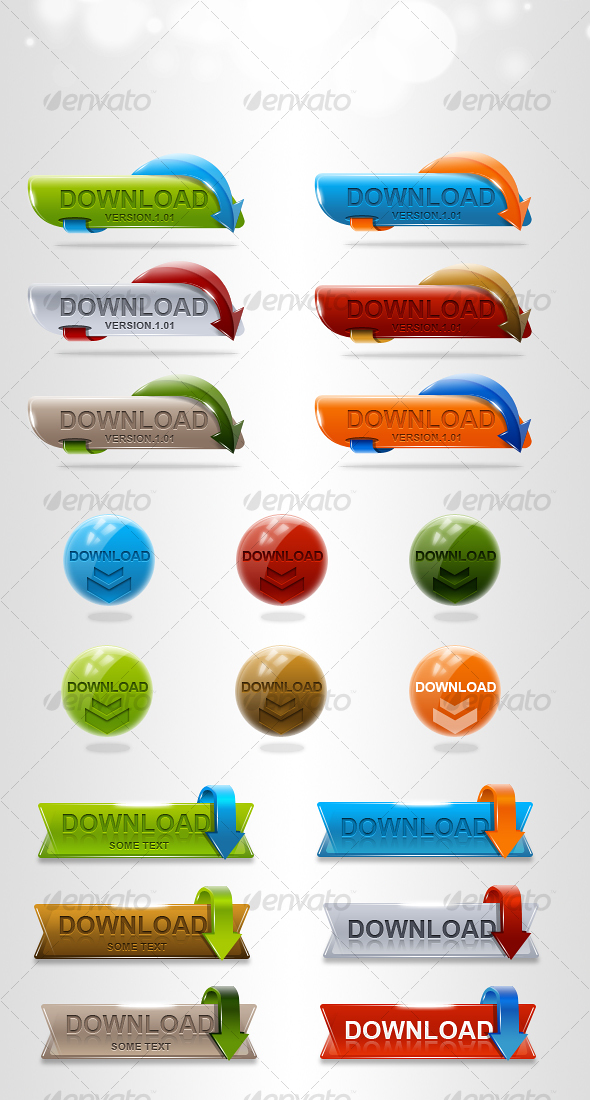 GraphicRiver HQ Download Buttons 108193