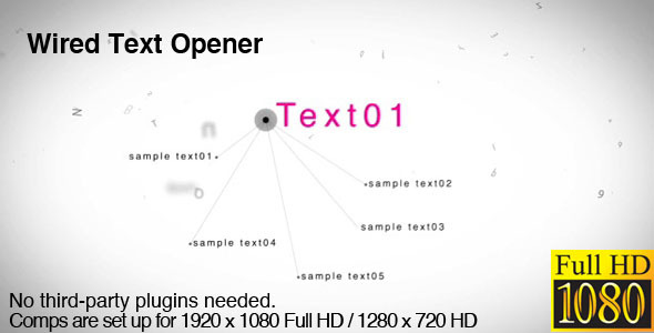 After Effects Project - VideoHive Wired Text Opener 3043389