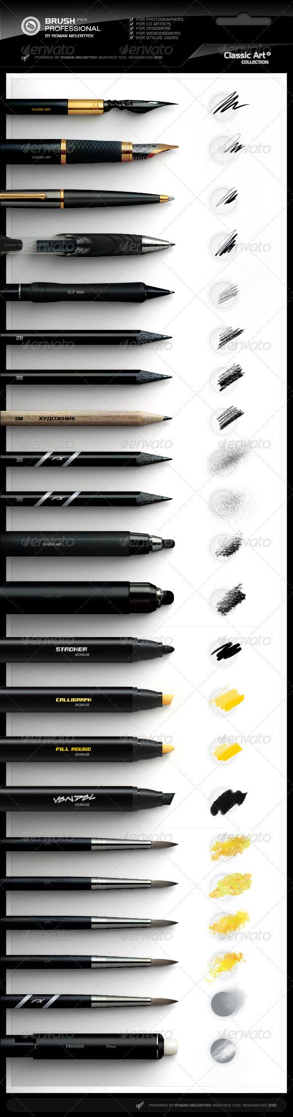 GraphicRiver Brush Pack Professional volume 4 Classic Art 2476826