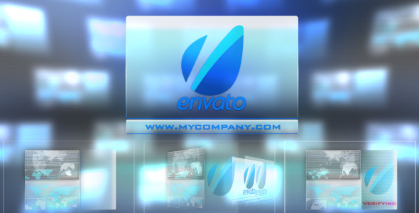 VideoHive Hitech Touch Interface-Futuristic Logo Sting 3044758