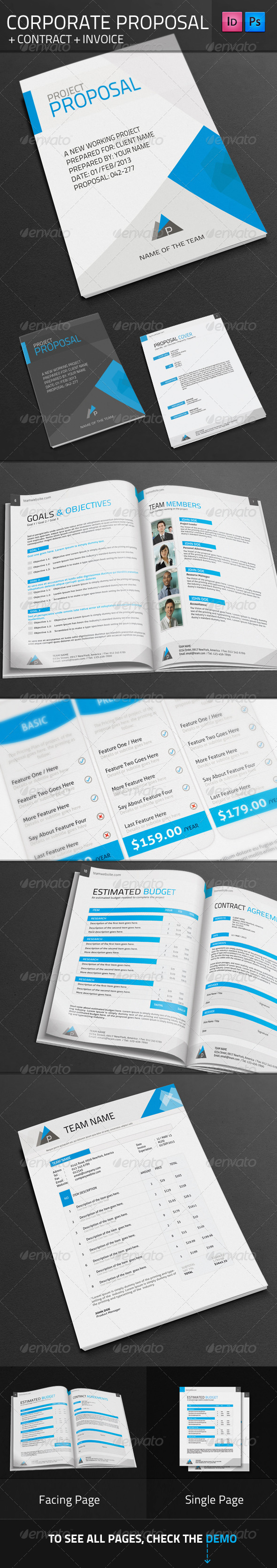 GraphicRiver Corporate Proposal & Contract & Invoince 3033074