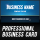 Print ready bold, clean professional business card - GraphicRiver Item for Sale