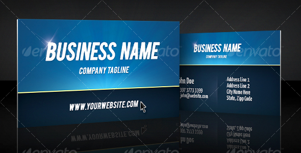 GraphicRiver Print ready bold clean professional business card 108256