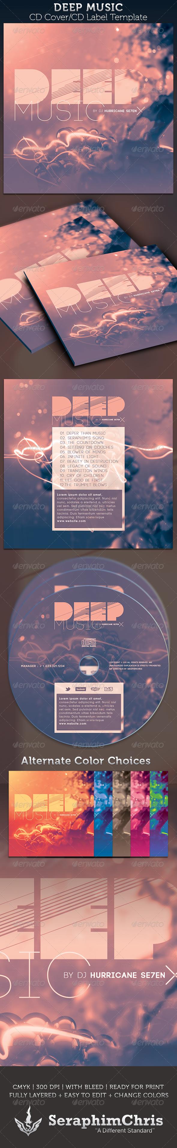 GraphicRiver Deep Music CD Cover Artwork Template 3046872