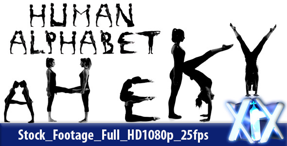 VideoHive Human Alphabet 3047289