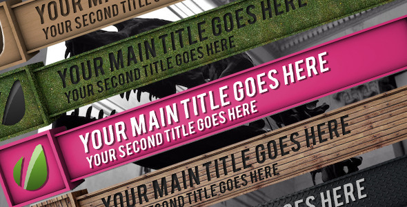 VideoHive Material Box Lower Third Pack 3048313