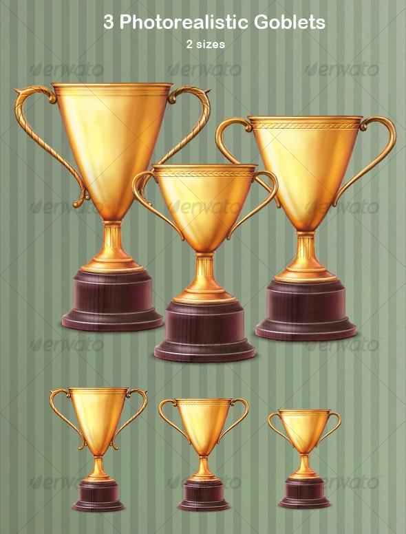GraphicRiver 3 Photorealistic Goblets 108386