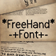 FreeHand Font - GraphicRiver Item for Sale