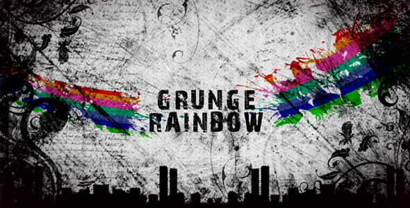 After Effects Project - VideoHive Grunge Rainbow 108467